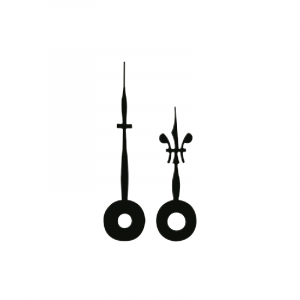 Zeigerpaar Euronorm Lilie schwarz Minutenzeiger-L:45mm