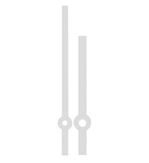 Paire des aiguilles Eurocode sapine acier Long.:70mm