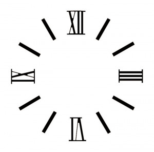 Zahlensatz römische Zahlen/ Balken Messing schwarz L=15