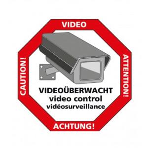 Caution video sticker
