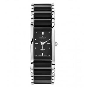 DUGENA Montre-bracelet quartz pour dames, noir/argent