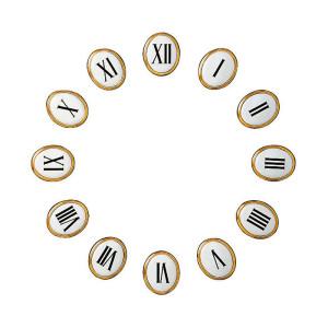 Number set with Roman numerals Zamak/Aluminium