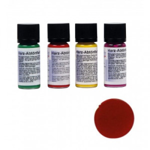 Resin tinting colours, cherry red, transparent