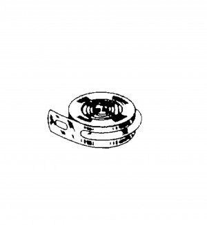 Drive spring with end hooks l: 2100mm b: 5mm str.: 0.3mm for spring housing Ø: 41mm