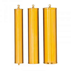 Weight sleeve polished yellow brass l: 245 exterior Ø: 60