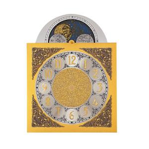 Bogen-Zifferblatt Aluminium 250 x 330 mm