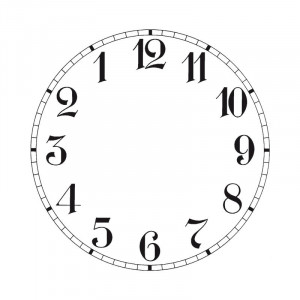 Zifferblatt für Rückwärtsläufer-Uhren Aluminium Ø 150 mm