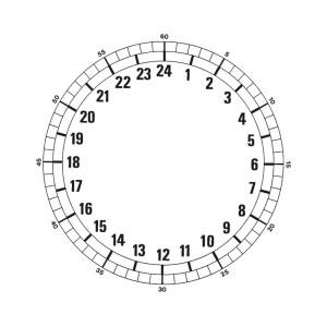Cadran 24 heures Ø 185 mm