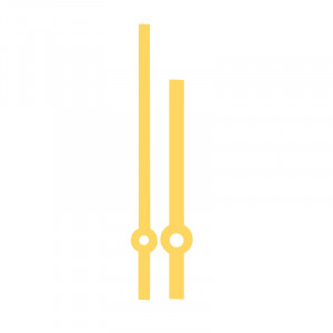 Hand pair eurocode Bar yellow MHL:92mm