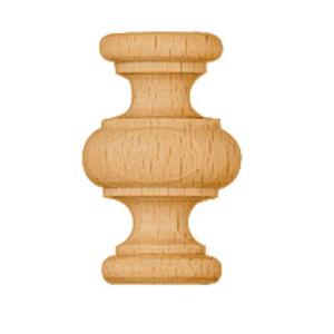 Zierteil gedrechselt Buche Holz