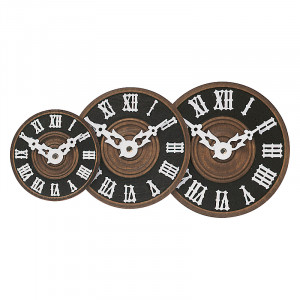Number face plastic brown with roman numbers for cuckoo clock Ø:60mm
