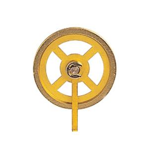 Flaschenzugrolle mit Bügel Messing Ø:28mm Rillen-B:1mm