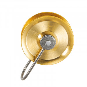 Flaschenzugrolle mit Bügel Messing Ø:38mm Rillen-B:7,6mm