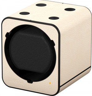 Watch winder Fancy Brick, leather look, cream
