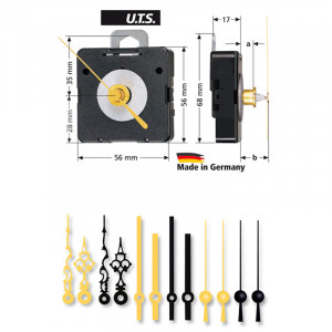 Quarz-Uhrwerk-Set WF UTS 800, ZWL 16,5mm