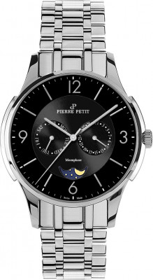 Pierre Petit multifunction watch St. Tropez black Swiss made