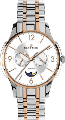 Pierre Petit multifunction watch St. Tropez bicolour Swiss made