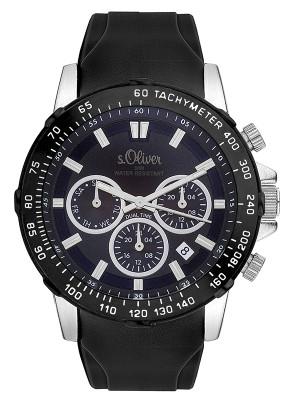 s.Oliver Herren Multifunktion Armbanduhr SO-3489-PM