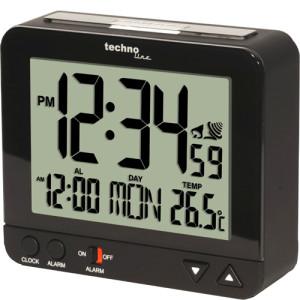 TECHNOLINE Funkuhr mit Nachtlicht schwarz