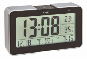 TFA radio alarm clock, 25 alarm sounds