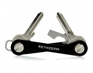 Keykeepa aluminum for up to 12 keys, black