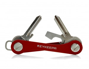 Keykeepa Aluminium pour jusqu'à 12 clés, rouge