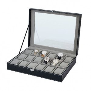 Watch collection box for 18 watches