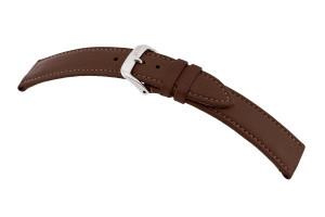 Bracelet-montre en cuir biologique Fairfield 14 mm moka