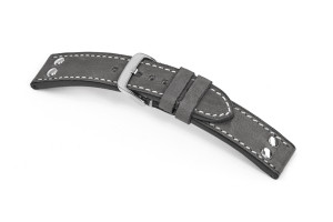 Leather strap Rockford 22 mm stone gray