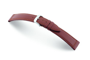 Leather strap Laguna 18 mm mahagony Waterproof