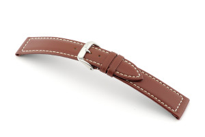 Leather strap Del Mar 18 mm mahogany