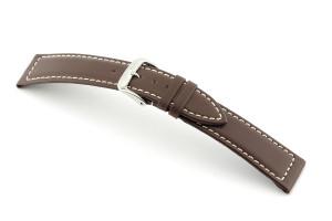 Bracelet-montre en cuir Del Mar 18 mm moka