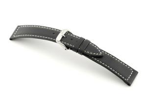 Lederband Del Mar 20 mm schwarz