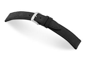 Lederband El Campo 18 mm schwarz