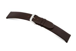 Bracelet-montre en cuir Merano 22mm moka lisse XL