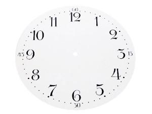 Dial, aluminium, Arabic numerals, dia. 260mm, white