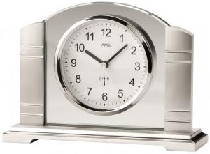 Horloge de table radio-pilotée AMS, modèle Vienne argent