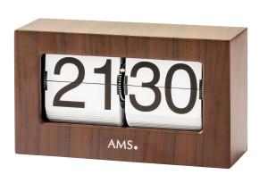 Horloge AMS de table à quartz coffret noyer