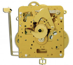 Home clock movement Hermle 261-030, 8 days, pendulum 55cm, stroke on gong