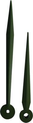 Paire des aiguilles Eurocode lance aluminium vert 123/94 mm