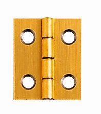 Charnières en acier laitonné. 10 x 25 mm