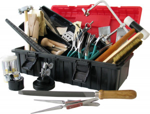 Tool set for goldsmiths and jewellery making