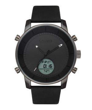 s.Oliver cuir bracelet noir SO-3620-LD