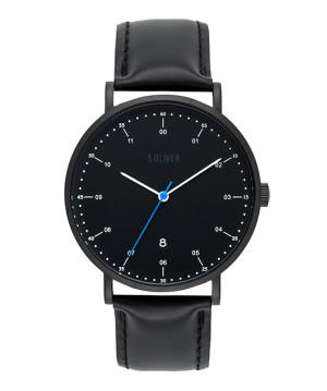s.Oliver cuir bracelet noir SO-3618-LQ