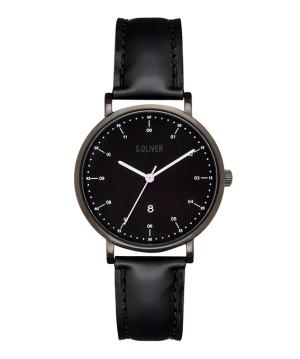 s.Oliver cuir bracelet noir SO-3602-LQ