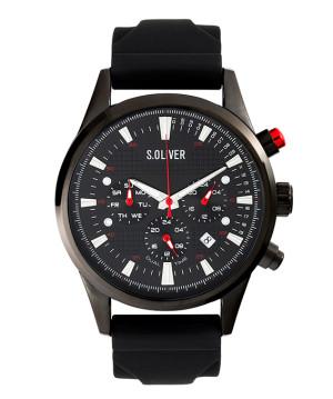 s.Oliver rubber strap black SO-3623-PM