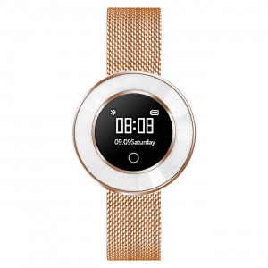 Fitness Tracker, rose gold, Mesh Bracelet