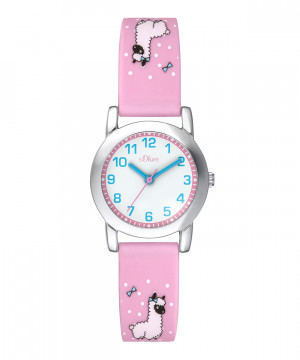 s.Oliver bracelet de montre silicone rose SO-3611-PQ