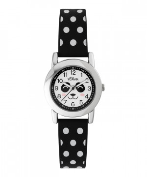 s.Oliver rubber watch strap black SO-3613-PQ