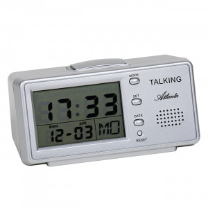 Atanta 6737 talking alarm clock silver